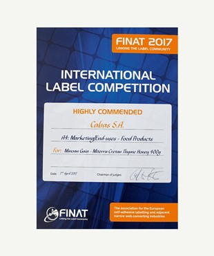 HIGHLY COMMENDED - FINAT COMPETITION 2017