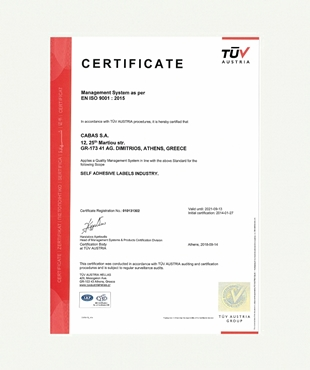 CERTIFICATION EN ISO 9001:2015