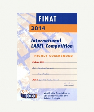 HIGHLY COMMENDED - FINAT 2014
