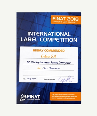 HIGHLY COMMENDED - FINAT COMPETITION 2018